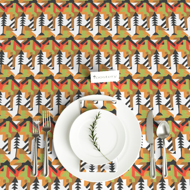 Tree motif_tablecloth